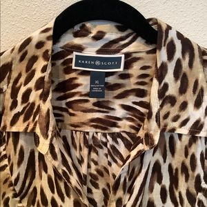 karen scott leopard pattern top